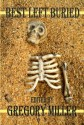 Buried skeleton bones halloween background